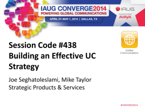 Building an Effective UC Strategy