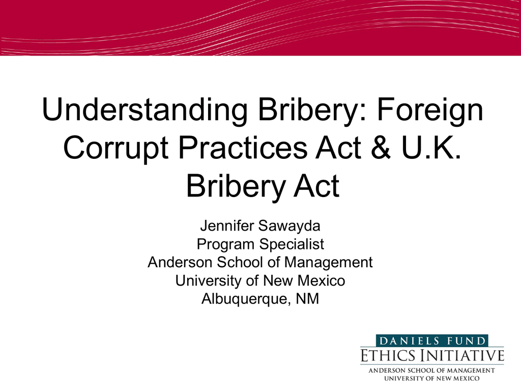 Understanding The Federal Corrupt Foreign Practices Act Fcpa
