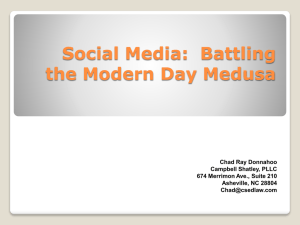 Social Media: Battling the Modern Day Medusa