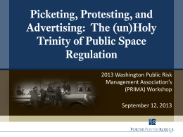 Picketing, Protesting, and Advertising: The (un)Holy