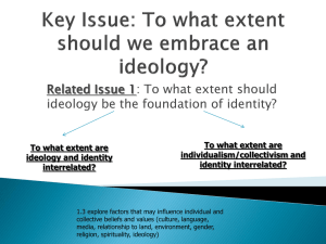 To what extent should ideology be the foundation of identity?