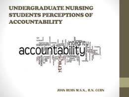 undergraduate nursing students perceptions of accountability