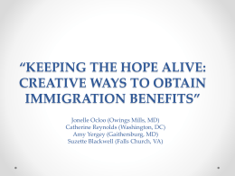 keeping the hope alive: creative ways to obtain
