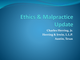 2013 Ethics Update