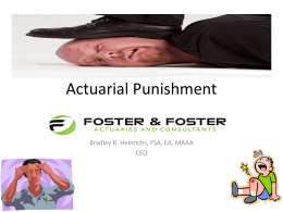 Actuarial Punishment - LAPERS Louisiana Association of Public