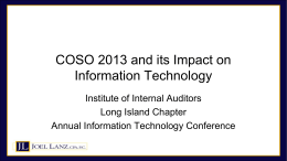 IIA 03212014 COSO 2013 and its Impact on Information Technology
