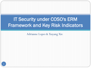 IT Security under COSO`s ERM Framework and Key