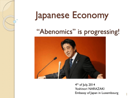 Presentation of the Japanese Economy