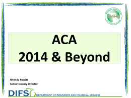 2015 ACA Plan Year - Michigan Association of Health Plans