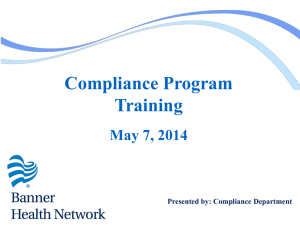 Compliance Program Training