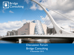 Bridge Directors Forum 9 November 2012