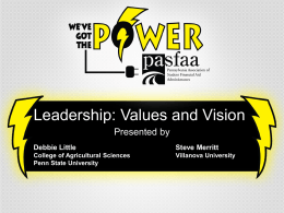 Session 35 - Leadership Values and Visions