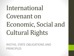 International Covenant on Economic, Social and - ESCR-Net