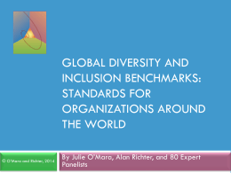 Global Diversity and Inclusion Benchmarks: Standards for