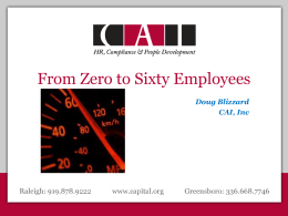 Doug Blizzard CAI, Inc