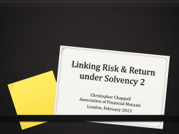 Risk versus Return under Solvency II