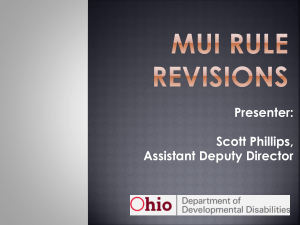 MUI Rule revisions Presenter