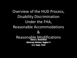 HUD Powerpoint on Housing Discrimination 1-11