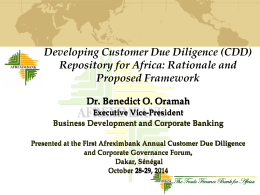 CDD Repository Presentation FINAL - African export