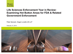 Life Sciences Enforcement Year in Review – Peter S Spivack
