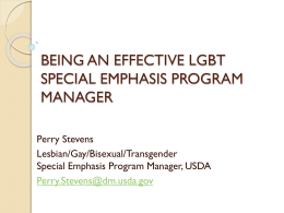 Effective LGBT Special Emphasis Program Managers