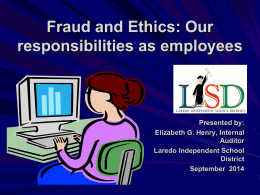 Fraud & Ethics Training