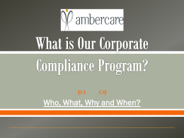 the Corporate Compliance Training PPT Here