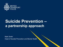 Suicide Prevention - The Cultural Consultation Service