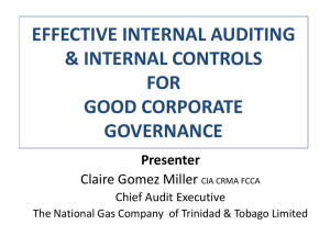 effective internal auditing and internal controls for good corporate