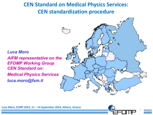 Moro Luca CEN Standard on Medical Physics Services