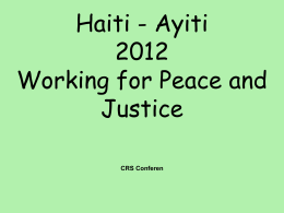 Fr. Jan Hanssens, Haitian Episcopal Commission on Justice and