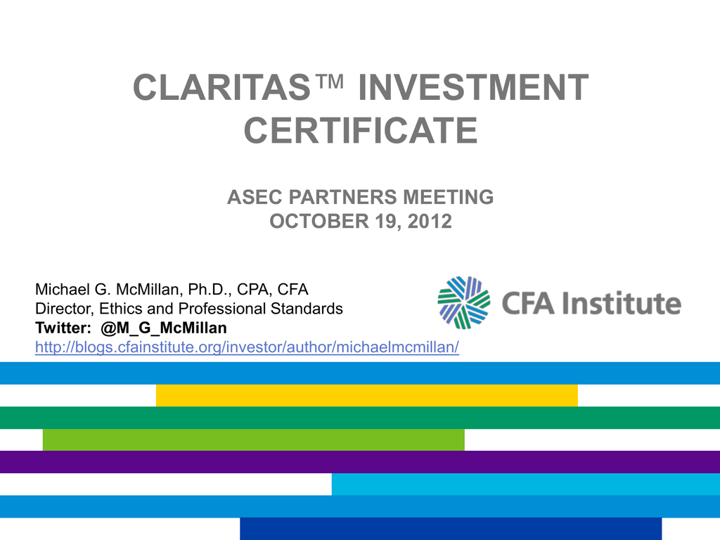 Claritas investment certificate programs forex brokers swiss franc to philippine