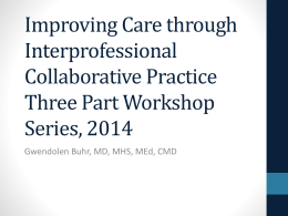 IPEC Introduction Fall 2014 - Duke Geriatric Education Center