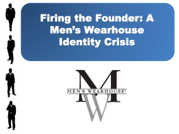 Men`s Wearhouse History - Arthur W. Page Society