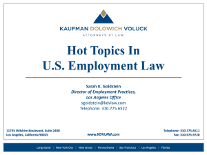 Hot Topics in US Employment Law