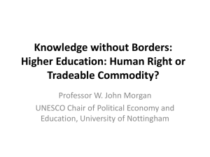 Human Right or Tradeable Commodity?