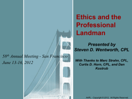 Ethics - American Association of Professional Landmen