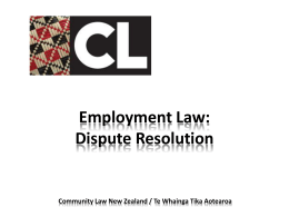 Employment Law: Dispute Resolution