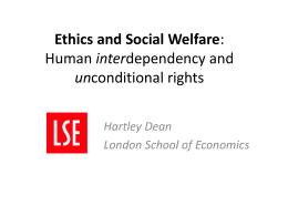 Ethics and Social Welfare