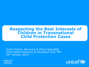 Respecting the Best Interests of Children in Transnational Child