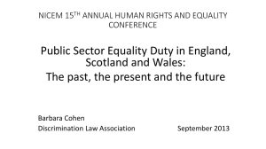 Public Sector Equality Duty in England, Scotland and Wales