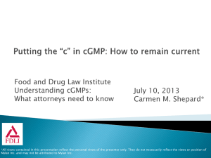 Slides - Food and Drug Law Institute