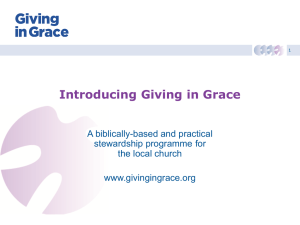 Presentation - Giving in Grace