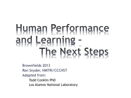 04 Human Performance And Learning