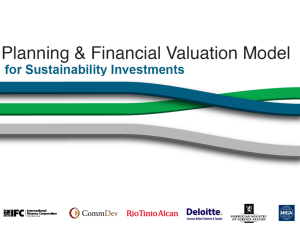 Planning and Financial Valuation Model - Draft Oct`2010