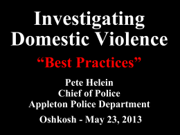 Advanced Domestic Violence Investigations