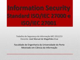 G4T9-ISO.27000.final-pres - Faculdade de Engenharia da