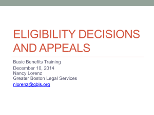 Eligibility Decisions and Appeals