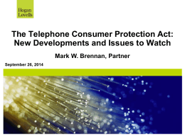 FCC Reform of the TCPA