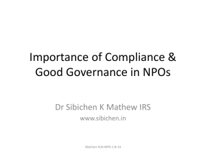 Importance of Compliance & Good Governance in NPOs